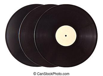 Black vinyl records