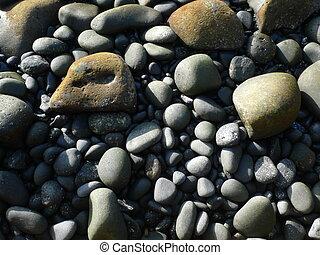 black volcanic stones