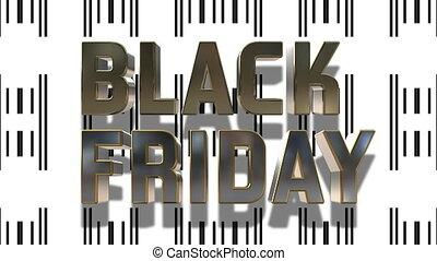 black , vrijdag, en, cyber, maandag, 3d, looping, animatie