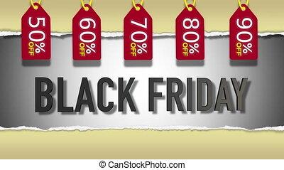 black , vrijdag, verkoop, 3d, looping, animatie