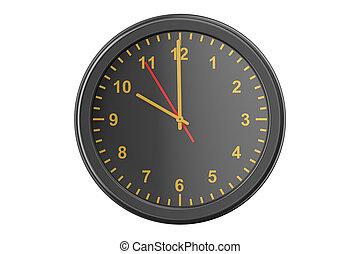black wall clock