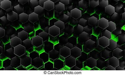 Chaotic Cubes Wall Background. 3d Render