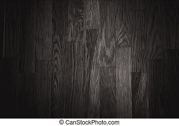 black wall wood texture background - vector