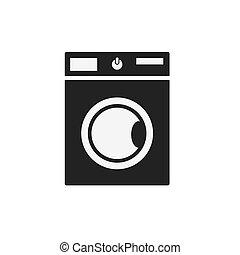 Black washing machine icon