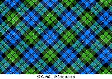 Black Watch milytary tartan diagonal seamless .Vector...