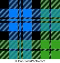 Black Watch milytary tartan seamless vector illustration