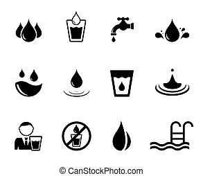 black water concept icons