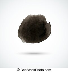 Black watercolor circle