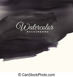 black watercolor texture with text space