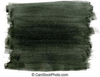 black , watercolor verf, slagen, abstract, achtergrond.