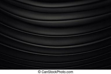 Black wavy background color splash, elegant classy design. 3d render