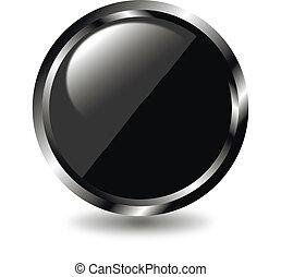 Black web button