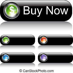 Black Web Button Set
