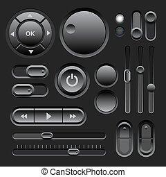 Black Web UI Elements Design