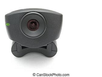 Black Webcam - A black USB Internet Webcam with red lens and...