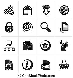 Website and internet icons - Black Website and internet...