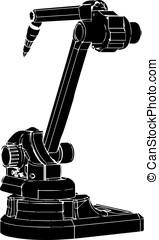 black welding robot