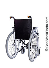 Black Wheelchair isolated on white