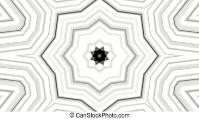 Black white abstract kaleidoscope. 3d rendering - Black...