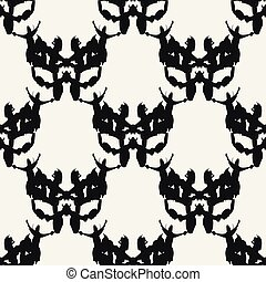 black white abstract seamless pattern for design