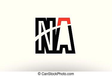 Na N A White Letter Logo Design With Black Square Na N A White