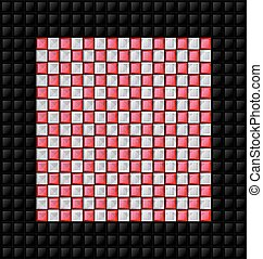 black, white and red glossy cubes - abstract colored...