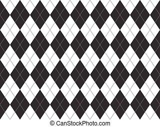 Black white argyle seamless pattern
