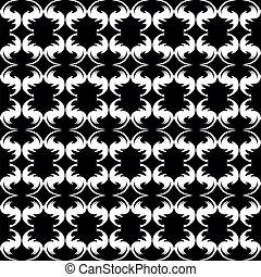 Black-white background.