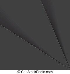 black & white background paper or plastic sheets - vector graphic. This abstract backdrop graphic consists of tones of grey , black and white with shadows in between sheets