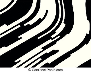 Black white background with optical effect. Curved lines. Minimal design. Zebra pattern. Vector illustration Textured surface