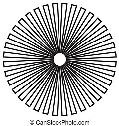 Black on white circle background design pattern created from outlines. EPS8 compatible.