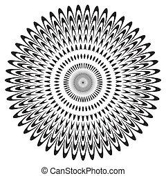 Black & White Circle Design Pattern - Black on white circle ...
