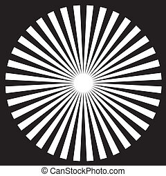 White on black circle background design pattern created from outlines. EPS8 compatible.