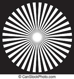 Black & White Circle Design Pattern - White on black circle...