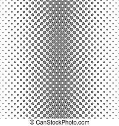 Black white circle pattern design background