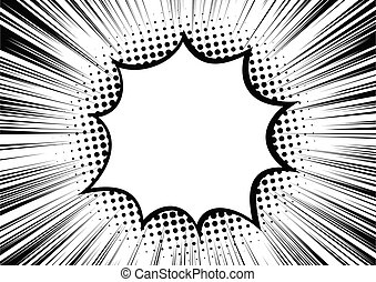 Black-white contrast Background of rays arranged in a circle.