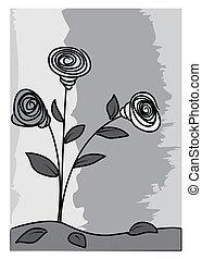 black white flowers