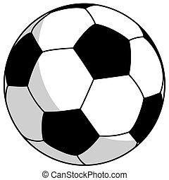 black-white football - simple vector illustration
