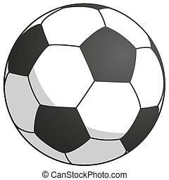 black-white football - simply vector illustration