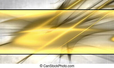 Black White Gold Looping Abstract Animated Background