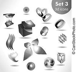 black white icon set / for wesite, info graphic