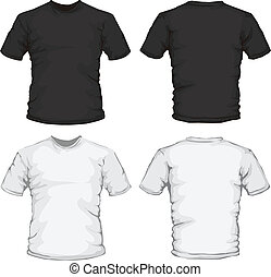 black white male shirt design