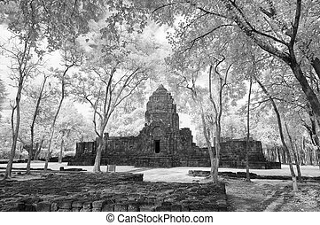 Black & White,  Muang Sing Historical Park, Thailand taken in Near Infrared