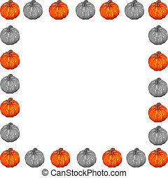 Black, White & Orange Pumpkin Border