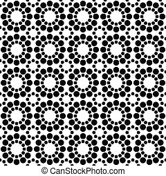 Black white seamless circle pattern design