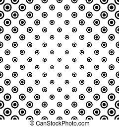 Black white seamless circle pattern