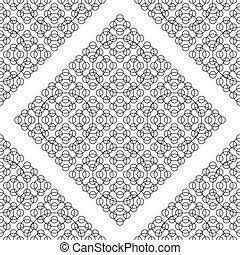 Black White Seamless Round Pattern.