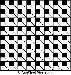 Black White Seamless Vector Pattern