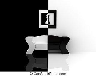 Black-white sofa