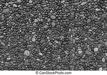 Black & white wall stones